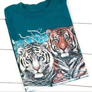 Vintage Habitat 90s Tiger Short Sleeve T-Shirt - L
